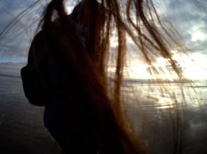 My hair front, Melanie behind